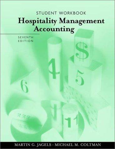 9780471400318: Hospitality Management Accounting: Student Workbook