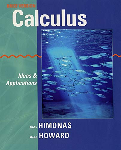 9780471401438: Calculus: Ideas and Applications