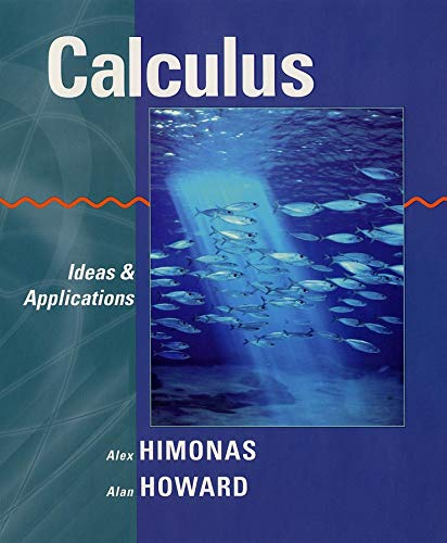 9780471401452: Calculus: Ideas and Applications