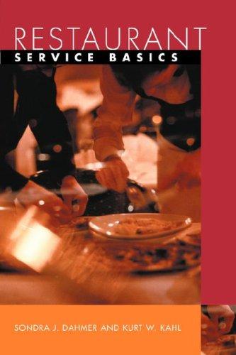 9780471402411: Restaurant Service Basics (Wiley restaurant basics series)