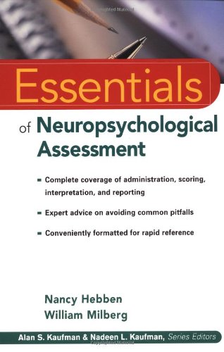 9780471405221: Essentials of Neuropsychological Assessment