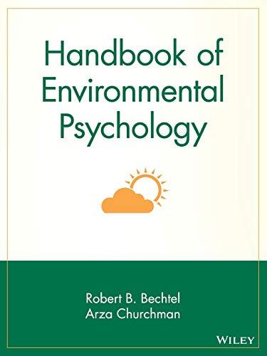 9780471405948: Handbook of Environmental Psychology