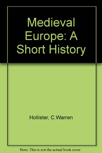 9780471406976: Medieval Europe: A Short History