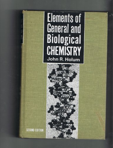 9780471408482: Elements of General and Biological Chemistry