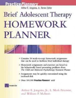9780471411413: Brief Adolescent Therapy Homework Planner