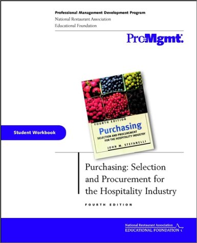 9780471413080: Purchasing, Student Workbook: Selection and Procurement for the Hospitality Industry