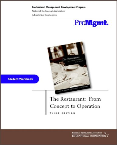 9780471413103: The Restaurant: From Concept to Operation