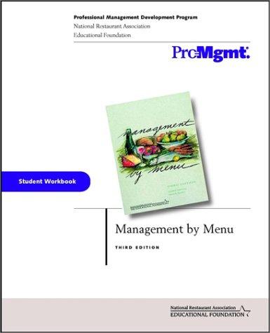 9780471413202: Management by Menu, Student Workbook
