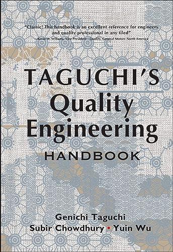 9780471413349: Taguchi's Quality Engineering Handbook