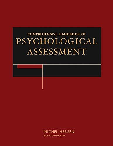 Comprehensive Handbook of Psychological Assessment (Hardback)