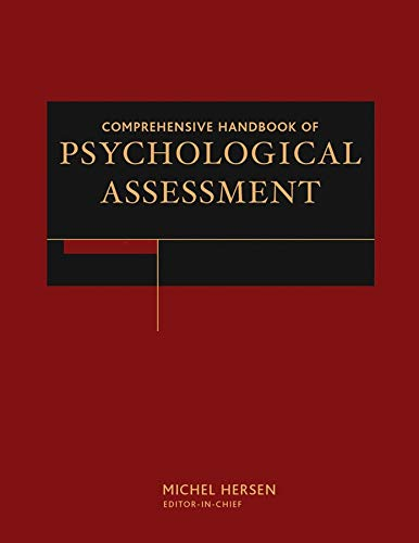 Comprehensive Handbook of Psychological Assessment, 4 Volume Set: Michel Hersen
