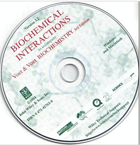 9780471417613: Biochemical Interactions to Accompany Voet & Voet Biochemistry 3rd edition (Version 3.2, for Windows & Macintosh)