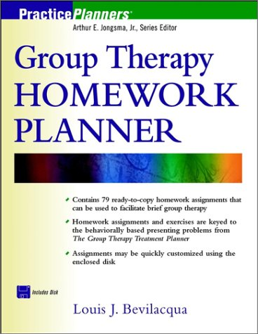 9780471418221: Group Therapy Homework Planner