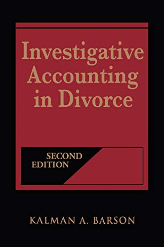 9780471418320: Investigative Accounting in Divorce