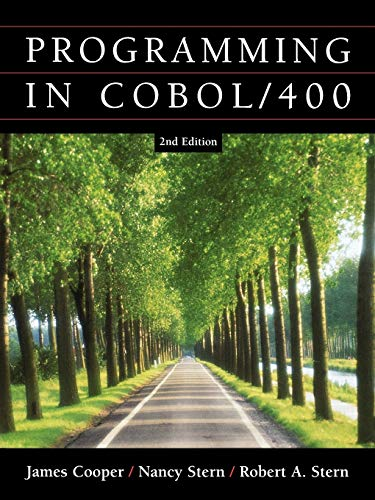 Structured COBOL Programming for the AS400: James Cooper