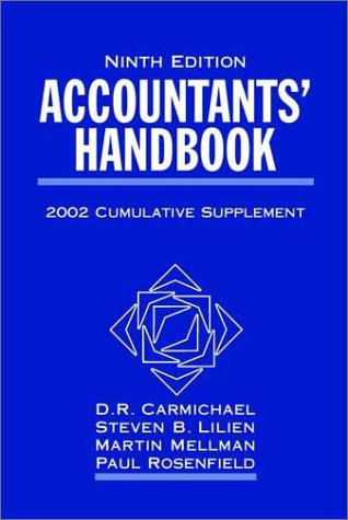 Accountants' Handbook: 2002 Cumulative Supplement, Ninth Edition: Carmichael, D. R.;
