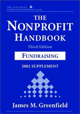 9780471419396: The Nonprofit Handbook, 2002 Supplement: Fund Raising (AFP/Wiley Fund Development Series) (Wiley Nonprofit Law, Finance and Management Series)