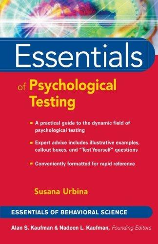 Essentials of Psychological Testing: Urbina, Susana