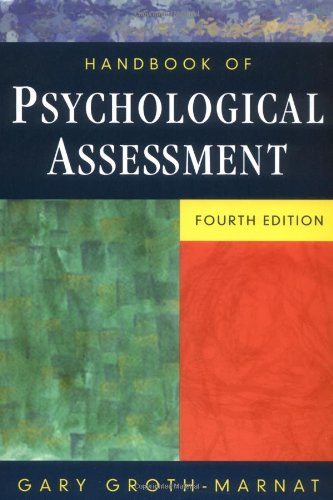 9780471419792: Handbook of Psychological Assessment