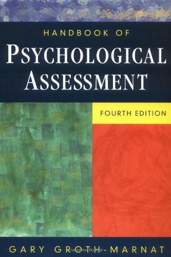 9780471419792: Handbook of Psychological Assessment