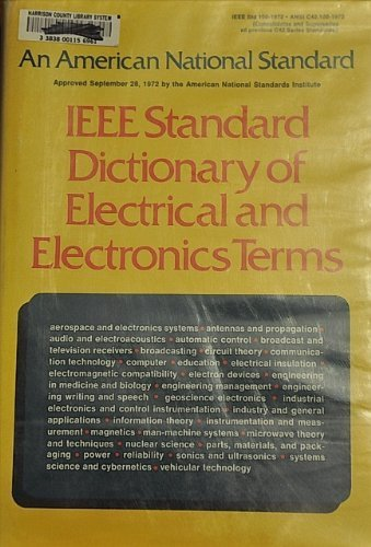Ieee Standard Dictionary of Electrical & Electronic Terms.,: Institute Of Electrical & ...
