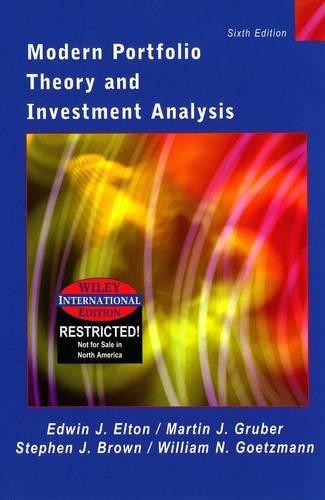 9780471428565: Modern Portfolio Theory and Investment Analysis