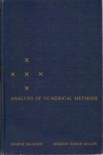 9780471428657: Analysis of Numerical Methods