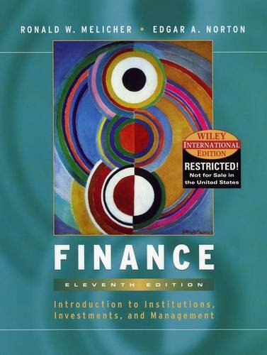 9780471428763: Finance: An Introduction to Markets, Investments and Management