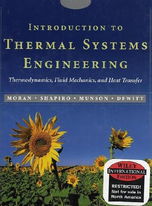 9780471429012: Wie Introduction to Thermal Systems Engineering: Thermodynamics, Fluid Mechanics, and Heat Transfer with CD