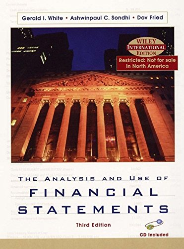 9780471429180: The Analysis and Use of Financial Statements