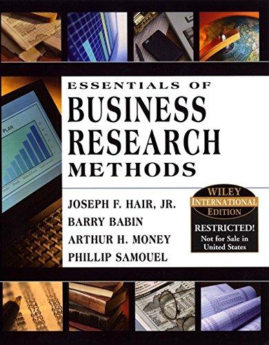 Essentials of Business Research: Jr., Hair, Joseph