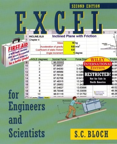 9780471429432: Excel for Engineers & Scientists (2nd, 03) by Bloch, S C [Paperback (2003)]