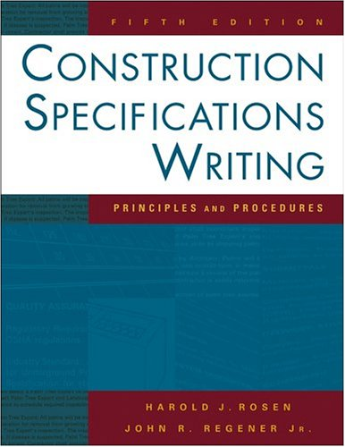 9780471432043: Construction Specifications Writing: Principles and Procedures