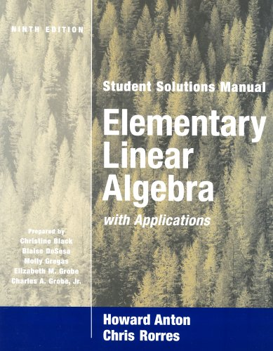 9780471433293: Elementary Linear Algebra with Applications, Student Solutions Manual