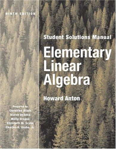 9780471433309: Elementary Linear Algebra, Student Solutions Manual