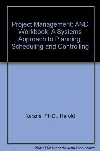 9780471436294: Project Management, Textbook and Study Guide: A Systems Approach to Planning, Scheduling, and Controlling