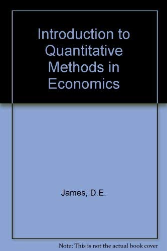 9780471439172: Introduction to Quantitative Methods in Economics