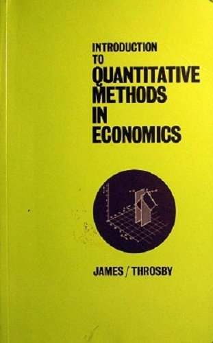 9780471439189: Introduction to Quantitative Methods in Economics