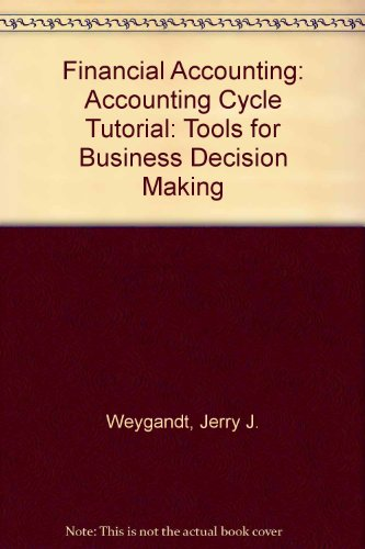 Financial Accounting, Kimmel Accounting Cycle Tutorial CD-ROM: Jerry J. Weygandt,