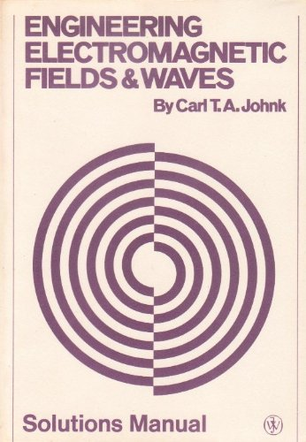 9780471442905: Johnk Solutions Manual: Engineering Electromagnetic Fields & Waves