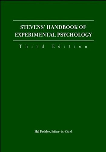 9780471443339: Stevens' Handbook of Experimental Psychology: 4 Volume Set