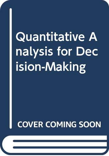 9780471445715: Quantitative Analysis for Decision-Making