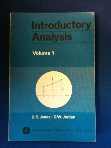 9780471447122: Introductory Analysis: v. 1