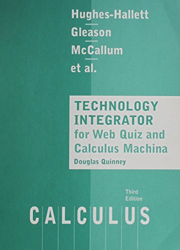 Hughes-Hallett Calculus Update, Study Guide: Deborah Hughes-Hallett, Andrew