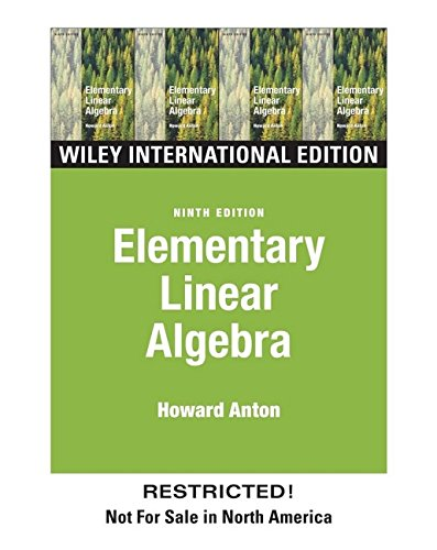 9780471449034: Elementary Linear Algebra, International Edition