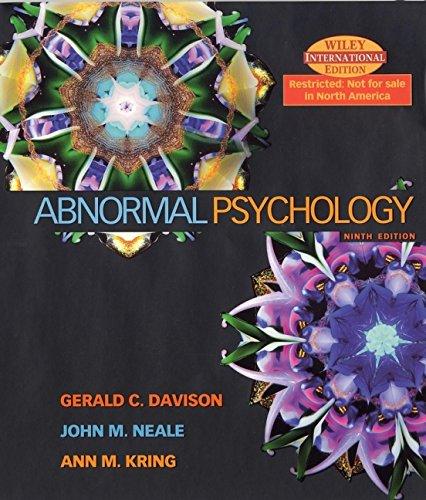 9780471449102: Abnormal Psychology
