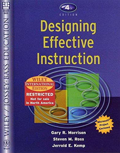 9780471451549 Designing Effective Instruction Abebooks Morrison Gary R Kemp Jerrold E Ross Steven M 0471451541