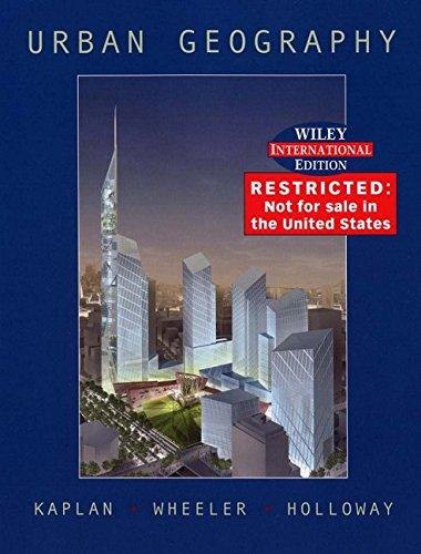 9780471451587: Urban Geography