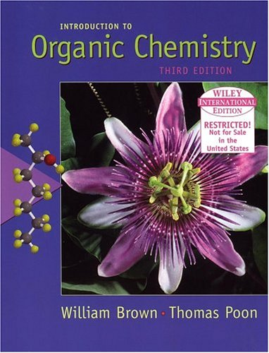 WIE Introduction to Organic Chemistry: Brown, William H.,Poone,