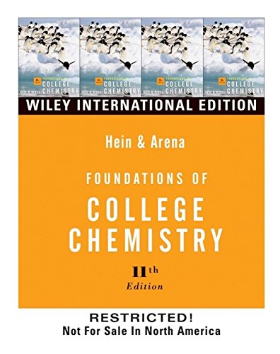 9780471451648: Foundations of College Chemistry
